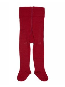 Grödo tights made of wool and cotton - red