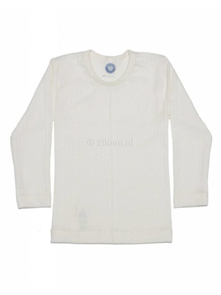 Cosilana Kinder shirt van wol/zijde/katoen - naturel
