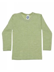 Cosilana Kids Longsleeve Wool/Silk/Cotton - green