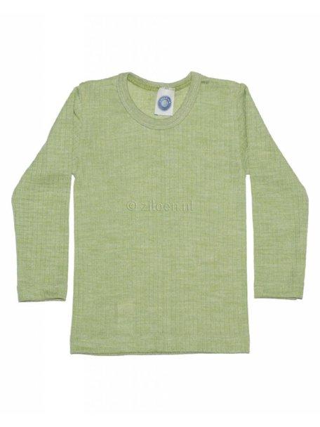 Cosilana Kinder shirt van wol/zijde/katoen - groen