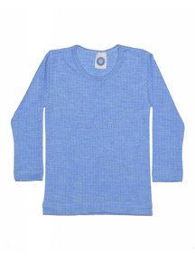 Cosilana Kids Longsleeve Wool/Silk/Cotton - blue