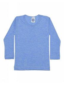 Cosilana Kinder shirt van wol/zijde/katoen - lichtblauw