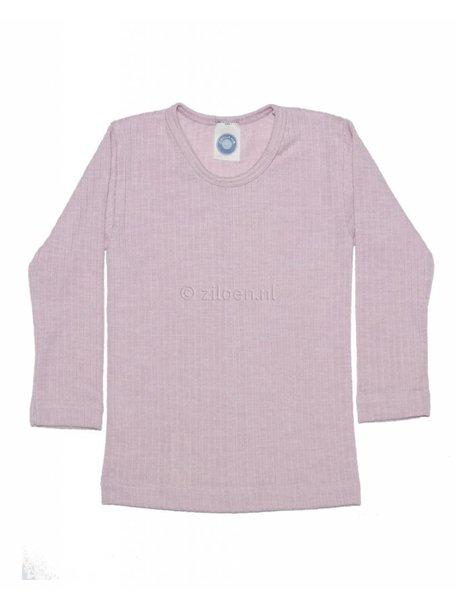 Cosilana Kinder shirt van wol/zijde/katoen - roze