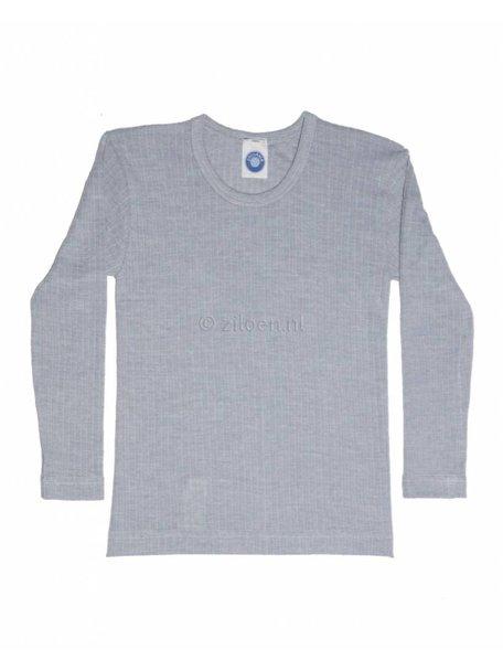 Cosilana Kinder shirt van wol/zijde/katoen - grijs
