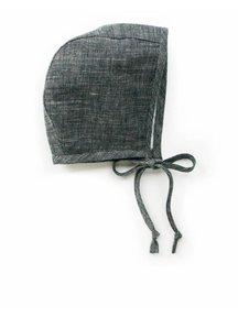 Briar Handmade Linen bonnet - charcoal