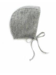 Briar Handmade Linen bonnet - natural stripe