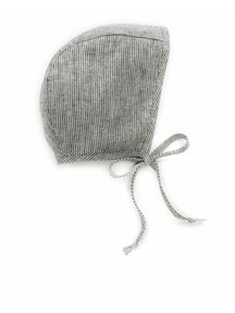 Briar Handmade Linnen bonnet - natural stripe