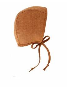 Briar Handmade Linen bonnet - rust