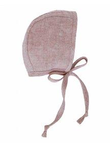 Briar Handmade Linen bonnet - blush