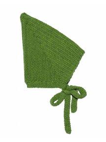 Soof Wollen pixie mutsje - groen