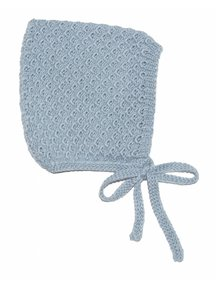 Soof Honey Comb Bonnet Alpaca/Silk - ice blue