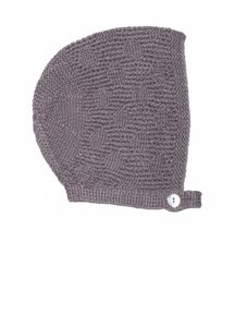 Soof Bonnet With Dots Alpaca/Silk - brown