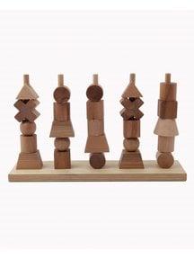 Wooden Story Houten stapelfiguren naturel