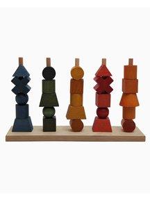 Wooden Story Houten stapelfiguren- regenboog