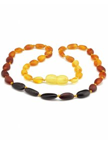 Amber Amber Baby Necklace 32cm - oval