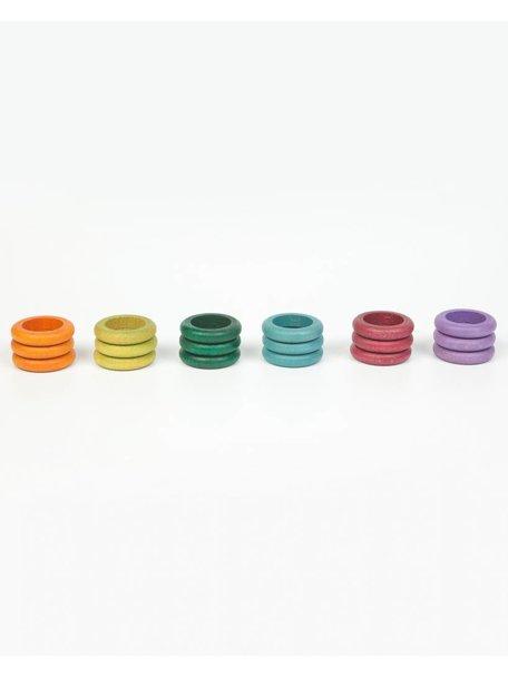 Grapat 18 ringen in aardetinten