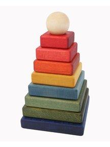 Wooden Story Houten piramide - regenboog