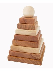 Wooden Story Houten piramide naturel