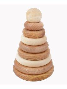 Wooden Story Houten stapeltoren rond - naturel