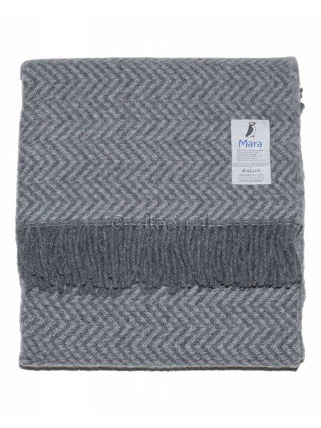 Mara Wollen ledikant deken 90 x 130 cm - grijs