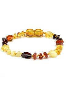 Amber Amber Baby Bracelet 14cm - multi colour oval