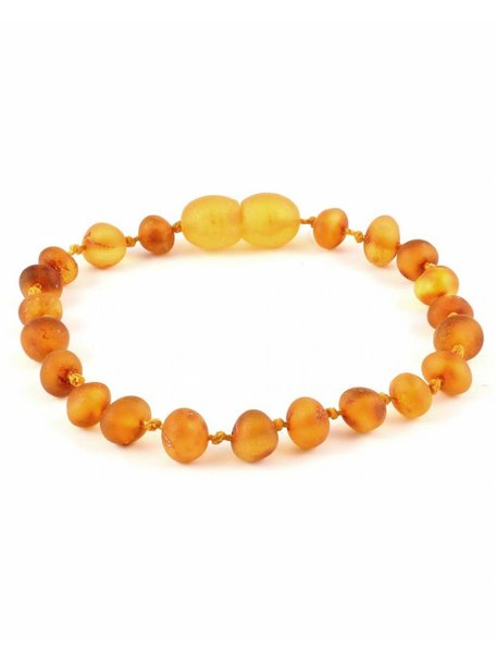Amber Barnsteen baby armbandje 14cm - honey raw