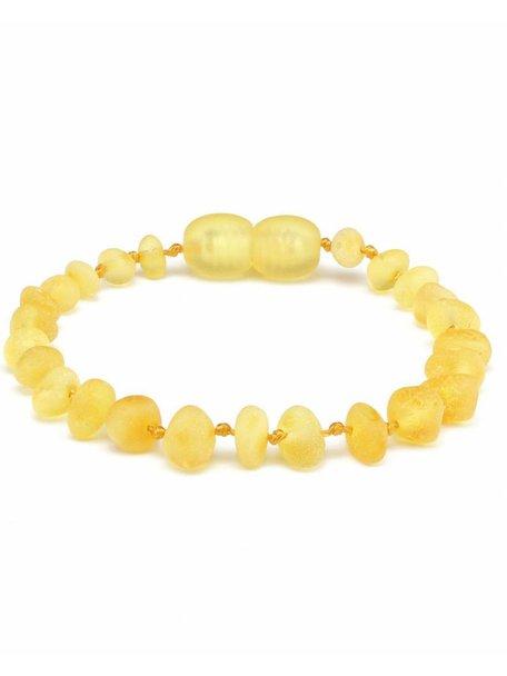 Amber Barnsteen baby armbandje 14cm - lemon raw