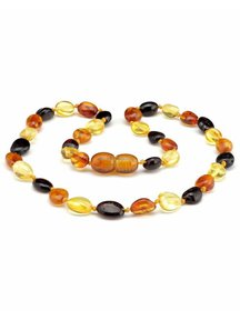 Amber Barnsteen baby ketting 32cm - multi colour ovaal