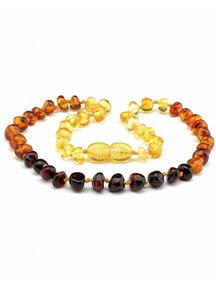 Amber Amber Baby Necklace 32cm - rainbow