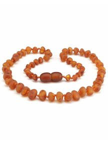 Amber Amber Baby Necklace 32cm - cognac raw
