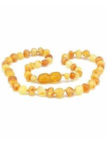 Amber Amber Baby Necklace 32cm - honey/lemon raw