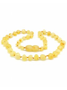 Amber Amber Baby Necklace 32cm - lemon raw