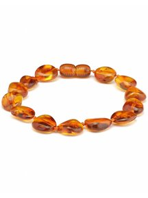 Amber Amber Ladies bracelet 19cm - cognac oval
