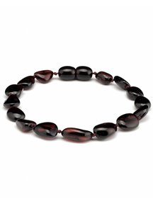 Amber Amber Ladies bracelet 19cm - cherry oval