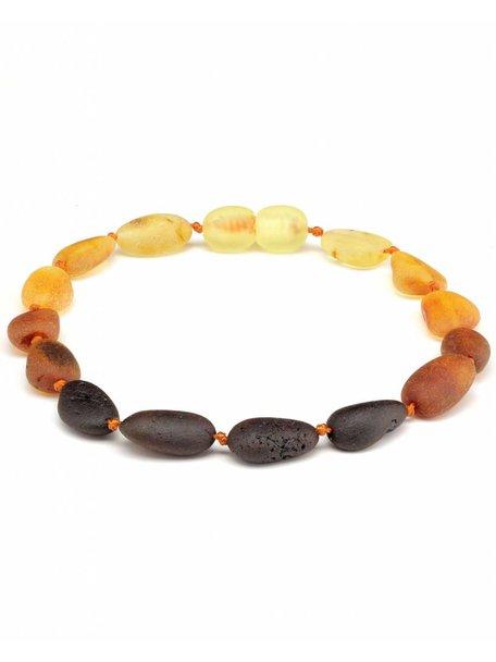 Amber Amber Ladies bracelet 19cm - rainbow oval raw