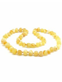 Amber Amber Ladies Necklace 45cm - lemon raw