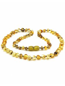 Amber Amber Ladies Necklace 45cm - olive