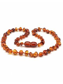 Amber Amber Kids Necklace 38cm - cognac