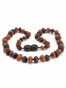 Amber Amber Kids Necklace 38cm - cherry/cognac raw