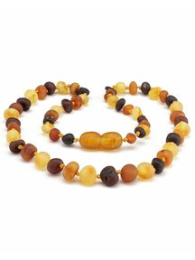 Amber Amber Kids Necklace 38cm - multi colour raw