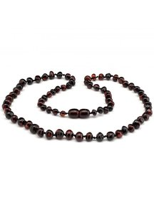 Amber Amber Ladies Necklace Extra long 64cm - cherry