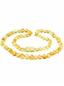 Amber Amber Ladies Necklace Extra long 64cm - lemon