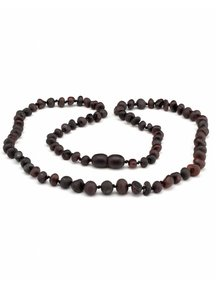 Amber Amber Ladies Necklace Extra long 64cm - cherry raw