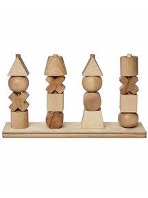 Wooden Story Houten stapelfiguren naturel XL
