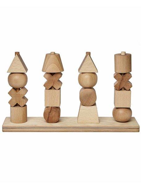 Wooden Story Houten stapelfiguren - naturel XL