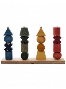 Wooden Story Houten stapelfiguren - rainbow XL