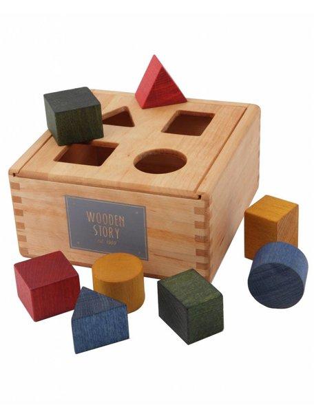 Wooden Story Houten vormenstoof - regenboog
