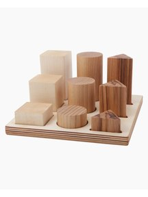 Wooden Story Natural Shape Sorter Box