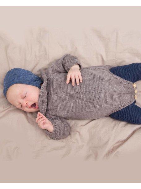 Soof Baby Body With Collar Alpaca/Silk - brown