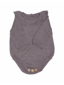 Soof Baby Body With Collar Alpaca/Silk - brown